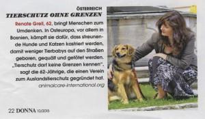 Renate Grell in der Donna