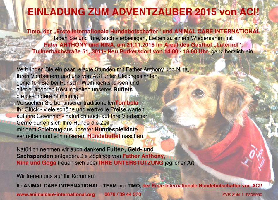 Einladung Adventzauber 2015