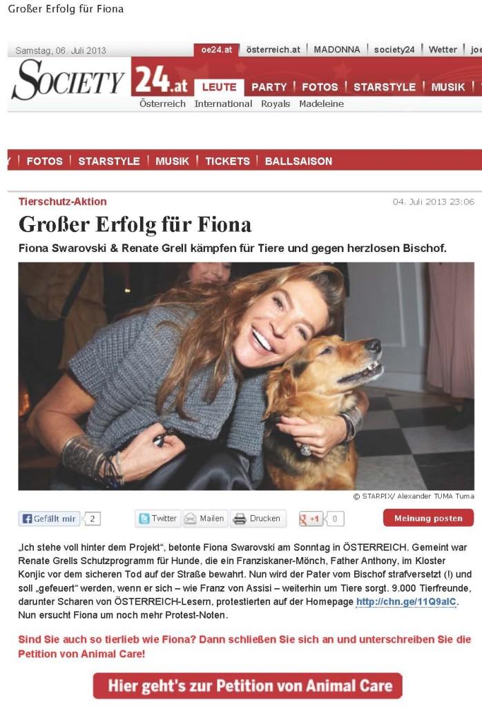 Großer Erfolg für Fiona