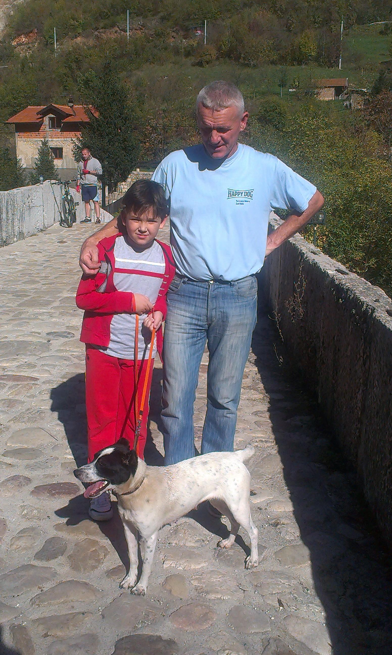 Boban, sein Sohn Alan und Annabell