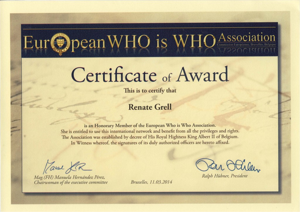 Renate Who is Who Award Kopie